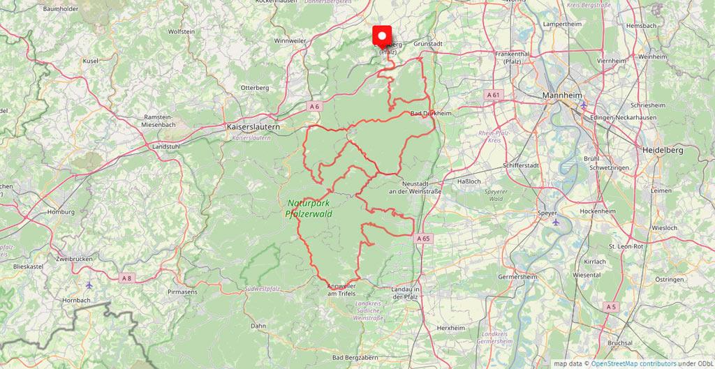 Das Motorradhotel in der Pfalz - Waldhotel Eisenberg - Odenwald - Luxemburg - Saarland - Elsass